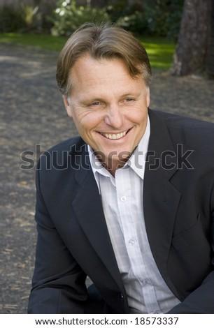 happy smiling businessman - stock photo