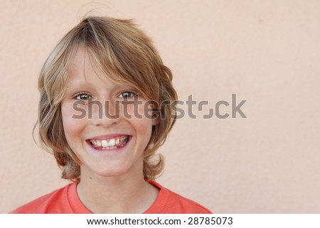 happy smiling child - stock photo