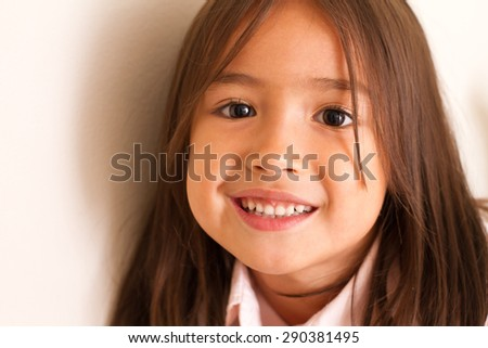 happy smiling cute little girl - stock photo