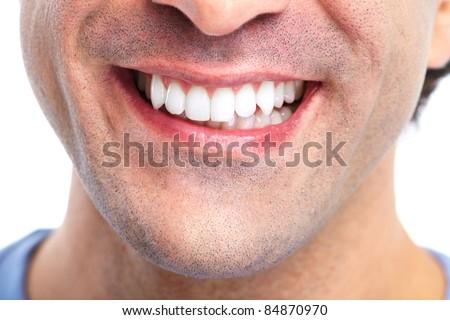 Happy smiling man. Dental health. Healthy teeth. - stock photo