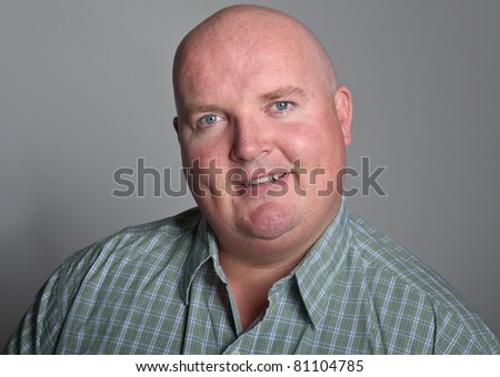 happy smiling middle age male portrait - stock photo