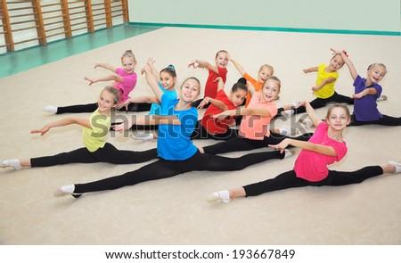 Happy sporty children - stock photo