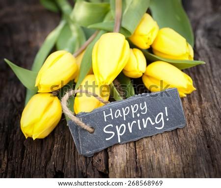 Happy spring - stock photo