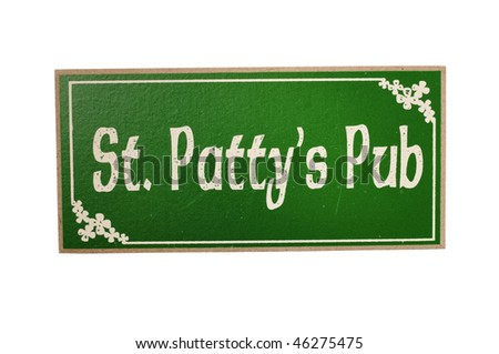 happy st. patrick's day - stock photo