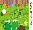 Happy St. Patrick's Day card. illustration - stock photo
