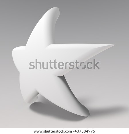 Happy Star. 3D illustration. 3D CG. High resolution.