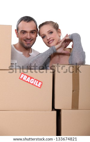 Happy starting new life together - stock photo