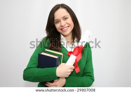 happy student holding a diploma