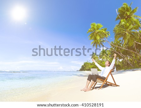 Happy successful Businessman.