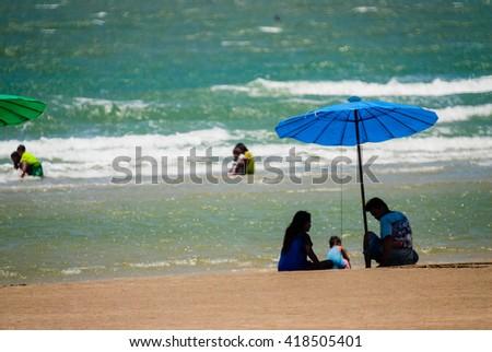 Happy summer holidays at the  sea  - stock photo