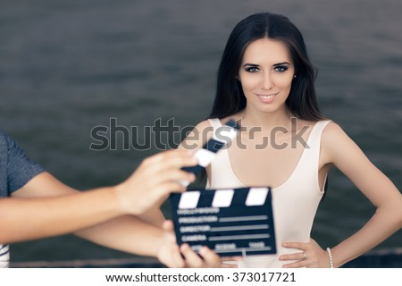 Happy Summer Woman Ready for a Shoot - Young actress ready to film a new scene