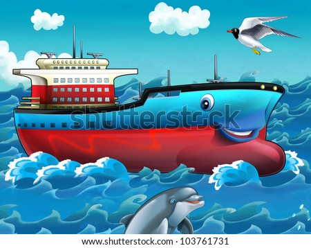 Happy tanker - stock photo