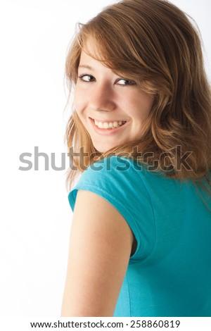 Happy teen girl  - stock photo