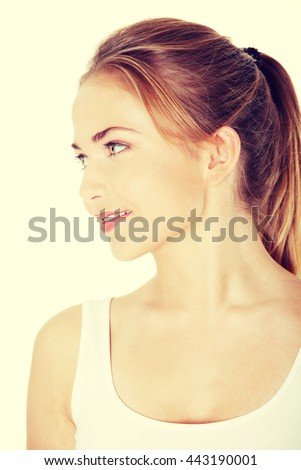Happy teen woman. - stock photo