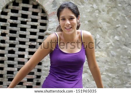 Happy teenager - stock photo