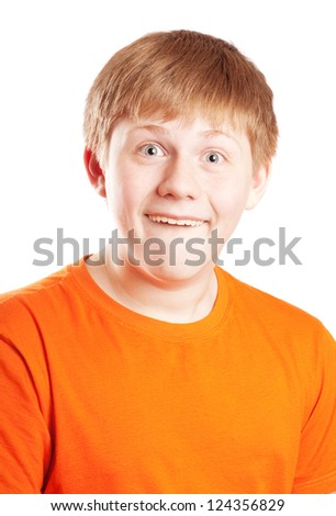 happy teenager boy - stock photo