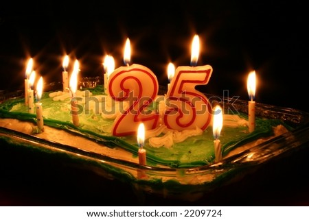 Happy 25th Birthday Party - stock photo