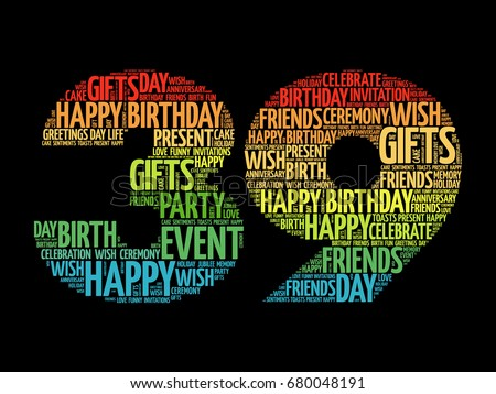 39th Birthday Stock Images Royalty Free Images Vectors Happy 39th Birthday Wishes