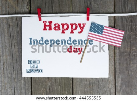 Happy 4th of July - Independence day background  with US flag