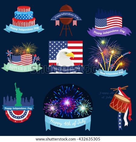 Happy 4th of July, Independence Day Design, usa