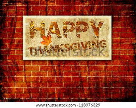 Happy Thanksgiving Background - stock photo