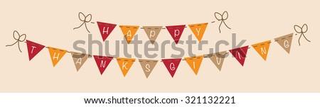 Happy Thanksgiving Banner - stock photo