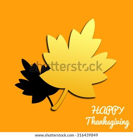 Happy thanksgiving day illustration orange background - stock photo