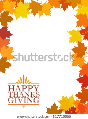 Happy thanksgiving text sign illustration over leaves background design graphic