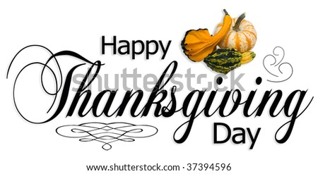 Happy Thanksgiving type. - stock photo