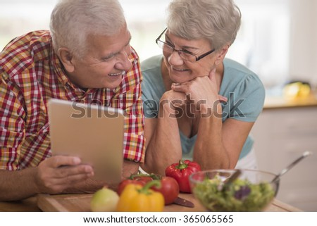 Happy time spent on cooking together - stock photo