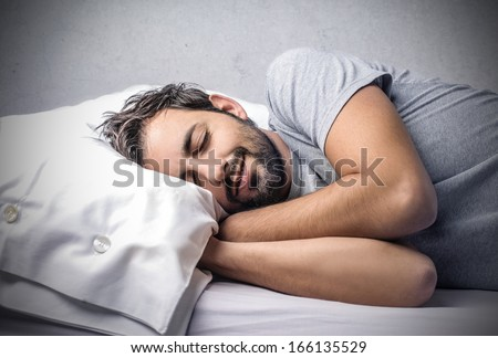 Happy to Sleep - stock photo