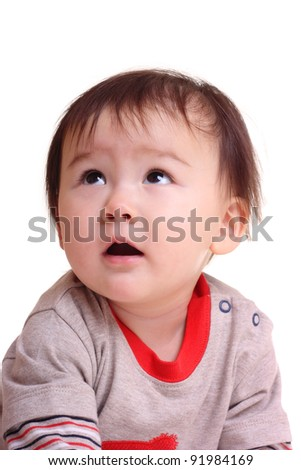 Happy toddler - stock photo
