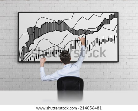 Happy trader has made a good transition. - stock photo