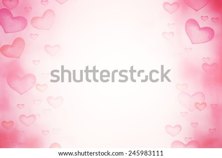 Happy Valentine's day Abstract   Defocused Bokeh twinkling lights Vintage background. Festive background with natural Red love hearts boke - stock photo
