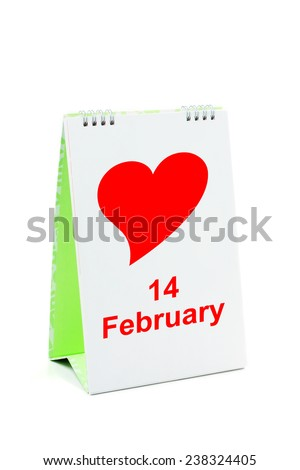 Happy Valentine's Day, Calendar. - stock photo