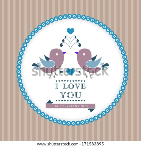 Happy Valentine's Day invitation card. I Love You. Perfect as invitation or announcement. - stock photo