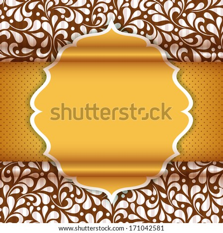 Happy Valentine's Day invitation card with floral ornament background. I Love You. Perfect as invitation or announcement.  For vector version, see my portfolio. - stock photo