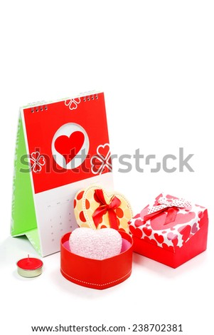 Happy valentine's day, Isolated on white.