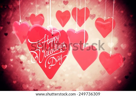 happy valentines day against valentines heart design