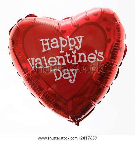 Happy Valentines Day Balloon - stock photo