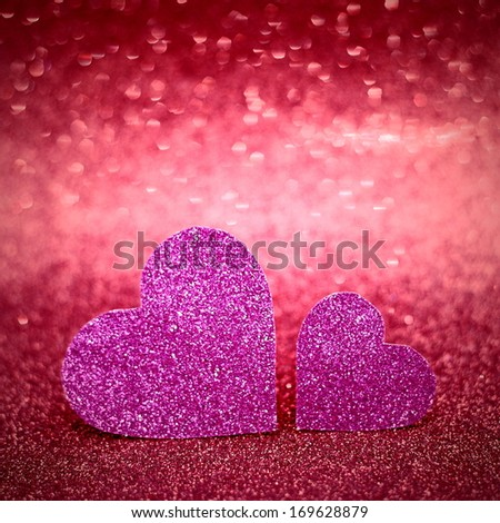 Happy Valentines Day Card - stock photo