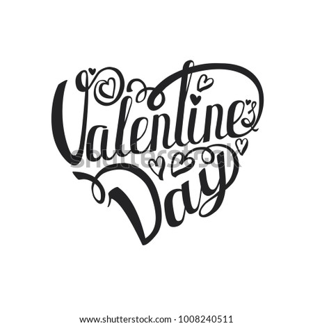 Happy Valentines Day Card B Ackground Vector Stock Illustration