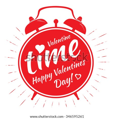 Happy valentines day card. Romantic illustration for event design, party poster, postcard or invitation.  - stock photo