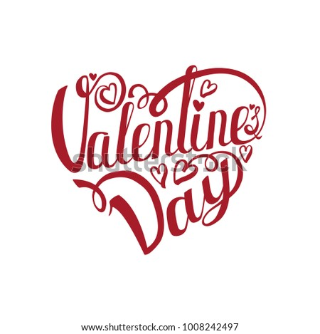 Happy Valentines Day Card Vector Background Love Heart Stock