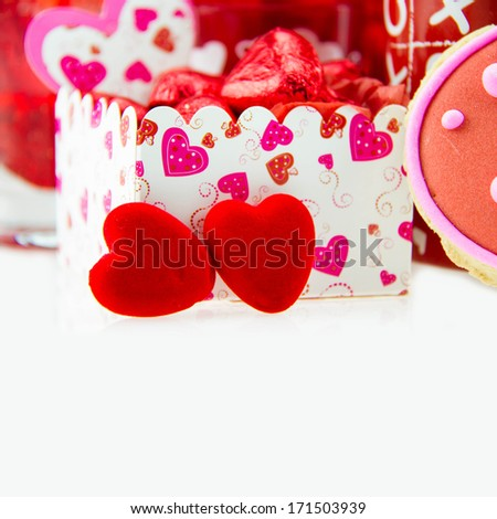 Happy Valentines Day  with candies