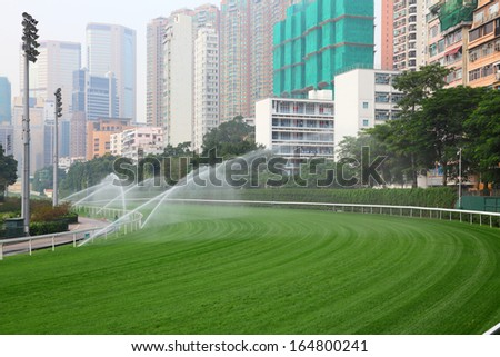 Happy Valley Racecourse in Hong Kong - stock photo