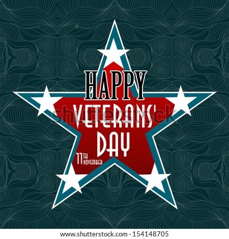 Happy Veterans Day american - stock photo