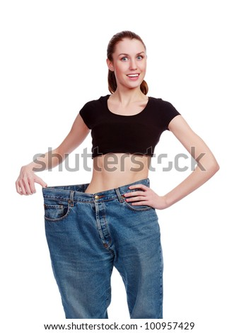 happy weight loss - stock photo
