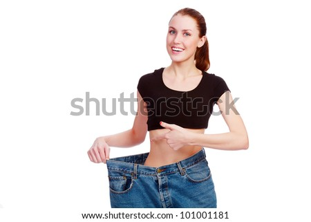 happy weight loss - stock photo