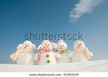 Happy winter friends - stock photo